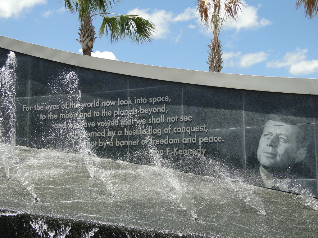 Pic Fountain at entrance to Kennedy Space Center