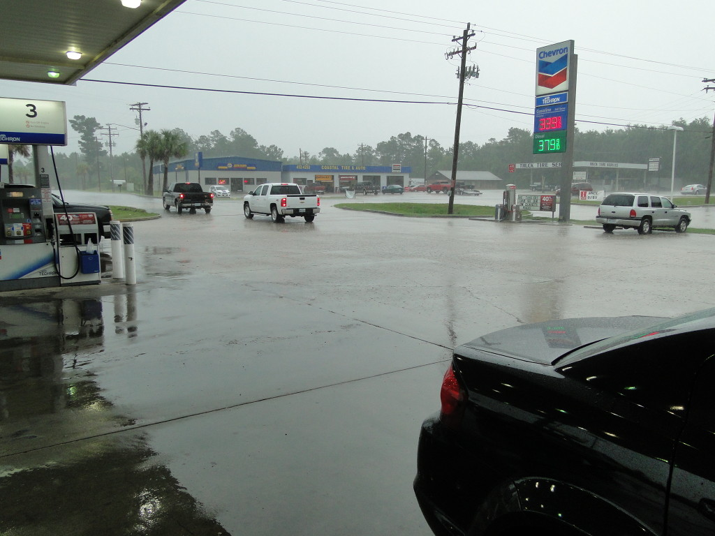 pic rain at gas station