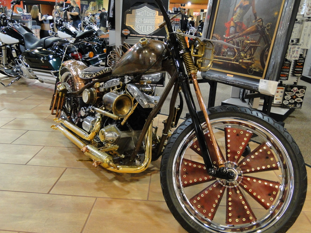 pic Steampunk inspired custom chopper