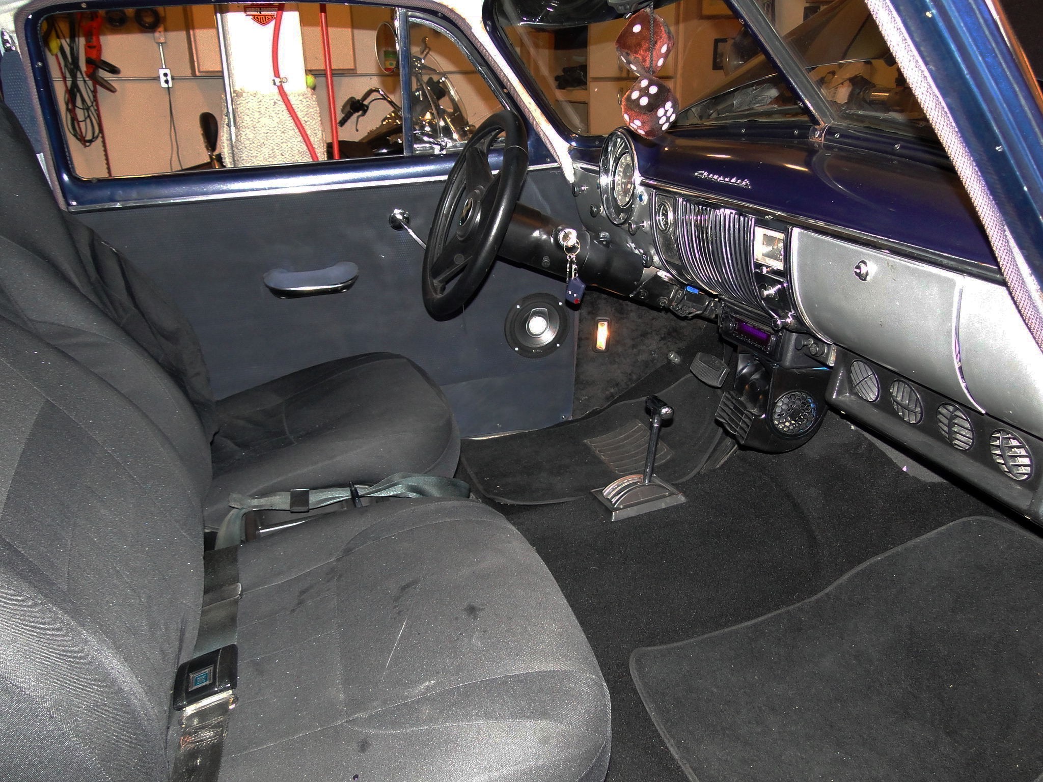 1950 Chevy Fleetline interior